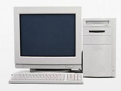 你可以得到:一台白色的电脑与其他配备。